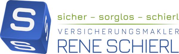 Versicherungsmakler Vöcklabruck - Rene Schierl Logo weißer Hintergrundgrau